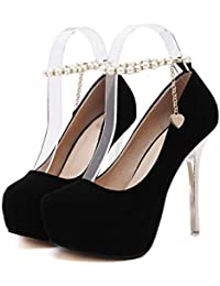 LBTSQ-tacchi alti a piattaforme sexy breve stivali 11cm sottile tacchi solo scarpe moda joker.Thirty-eight black