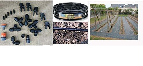 kit irrigazione giardino goccia orto impianto completo modulare 50mq ampliabile