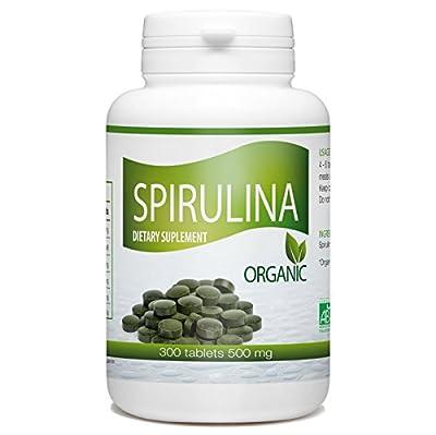 Organic Spirulina - 500 mg per tablet - 300 Tablets from GPH