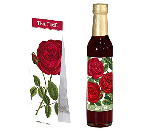 NN. Für den Valentinsschatz Rosensirup - Rote Rosen & Tea TIME Rosentee - Kräutertee -