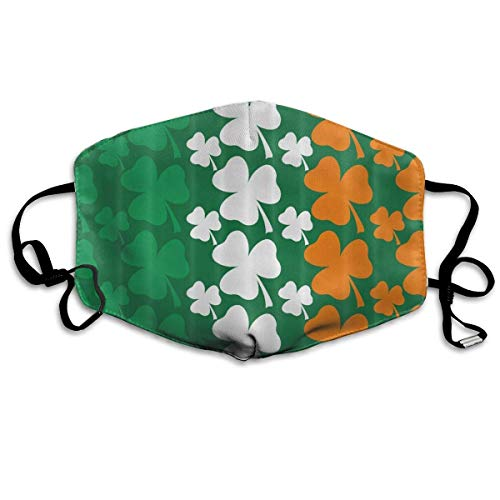 Daawqee Staubschutzmasken, Saint Patricks Day Design Irish Flag Face Masks Breathable Dust Filter Masks Mouth Cover Masks with Elastic Ear Loop (Für Kinder Kostüme Saints)