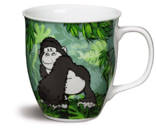 Nici 37383 - Taza de porcelana (9,5 x 10 cm), diseño de animales de la selva
