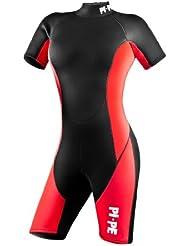 Pi-Pe - Traje corto de buceo (neopreno, para mujeres) rojo rojo Talla:medium