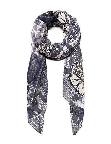 desigual foulard flower snake sciarpa, nero (ceniza 2013), unica (taglia produttore: u) donna
