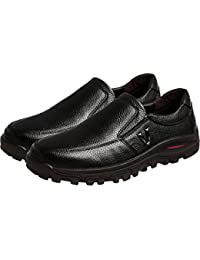 Menschwear Men s Genuine Leather Casual Lightweight Breathable Shoes b04576a92ac