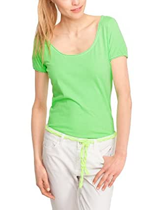 Comma CI Damen T-Shirt Regular Fit 88.305.32.1649 T-SHIRT KURZARM, Gr. 34 (XS), Grün (0067 neon grün)