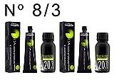 L'Oréal Professionnel Inoa nº 8,3 colorant 2 unités + Alkimist Professional oxygéné 20vol 6% 2 unités