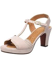 1TO9 Sandalias de Vestir Para Mujer, Color Naranja, Talla 37 1/3