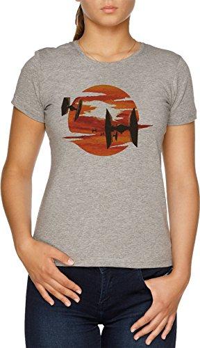 Vendax Paseo de el Corbata Combatientes Camiseta Mujer Gris