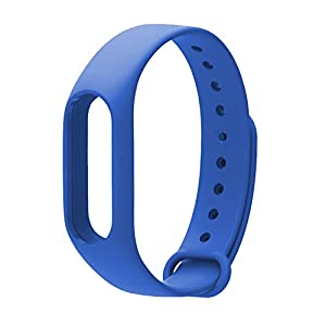 Oobest - Pulsera para Xiaomi Mi Band 2. Correa de reemplazo para pulsera inteligente, accesorios para Mi Band 2, color azul oscuro 4