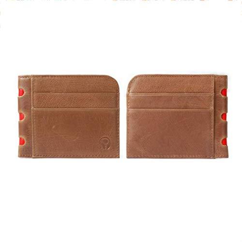 JOYfree Slim Leder Geldbörse Visitenkartenetui Bank Card Clip Multi-Card-Bit Packtasche Vintage Herren Geldbörse Clip, PU, braun