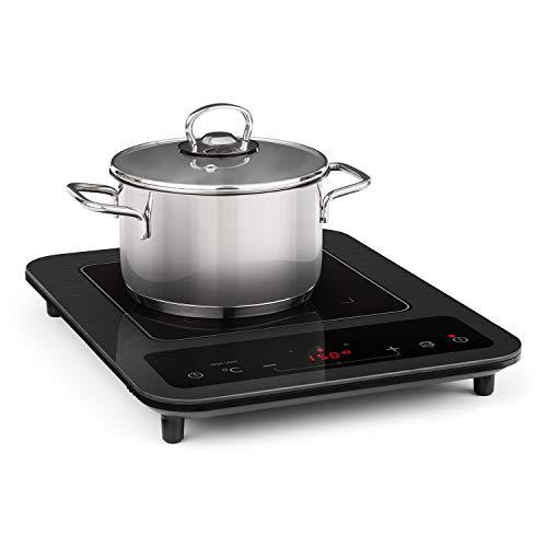 Klarstein SlimChef placa de cocina - Cocina de inducción, 1800 W, 10 niveles de potencia y de temperatura...