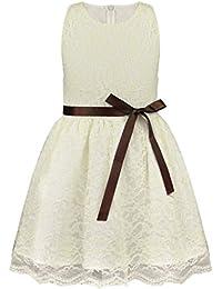 9e0b31a2d Freebily Vestido de Fiesta Princesa Niñas Bebé de 6 Meses a 10 Años Vestido  Largo Verano