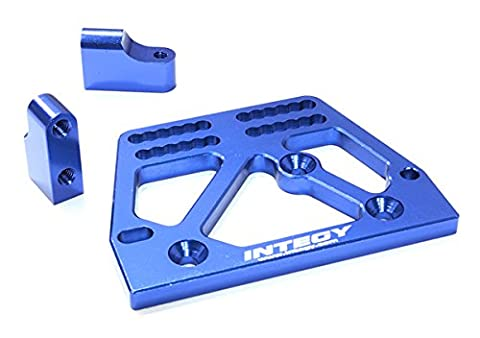 Integy RC Model Hop-ups C26707BLUE Billet Machined Alloy Servo Mount Set for Axial 1/10 SCX-10 Scale Crawler