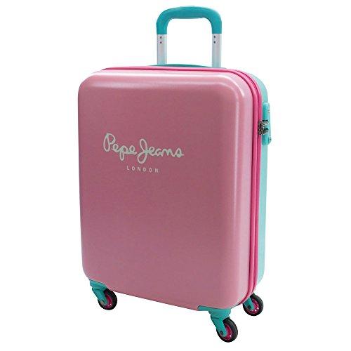 Pepe Jeans Bicolor Equipaje de Mano, 44 litros, Color Rosa