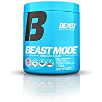 Beast Sports Nutrition Beast Mode Pre-Workout.Creatine & Beta Alanine for Muscle Building,Strength & Pumps. Intense Focus & Energy. Electrolytes for Endurance & Recovery. 30 Servings, Candy Blast