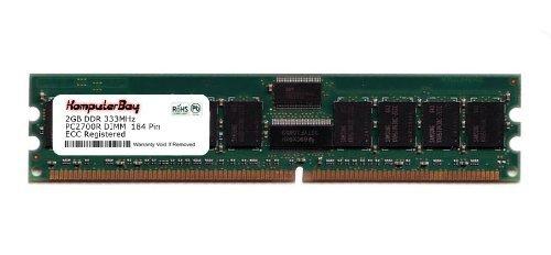 KOMPUTERBAY 2GB DDR 333 MHz PC2700 DIMM CL2.5 184pin ECC REGISTRIERT für Server nicht Desktops - Cl2.5 Cl3