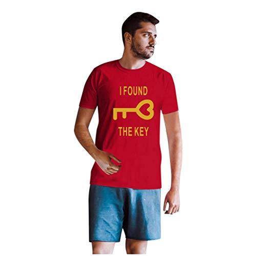 Aoogo Paar Sweatshirt,Männer und Frauen Schlüssel und Schlösser Druck Brief Drucken T-Shirt Top Bluse Langarm Sweatshirt Tops