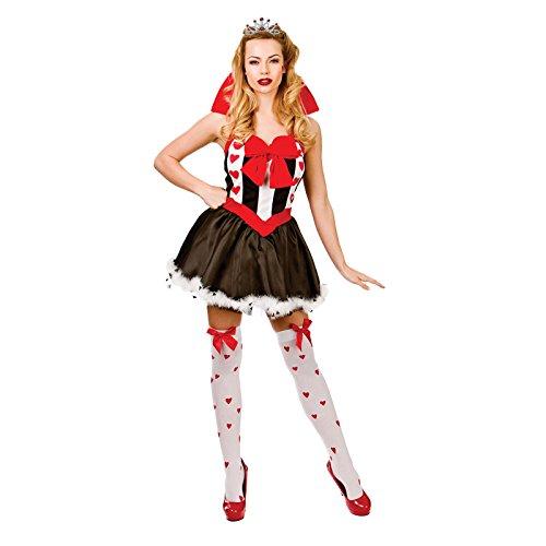 Queen of Hearts - Adult Costume Lady: S (Womens Queen Of Hearts Kostüm)