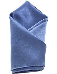Cornflower Blue Mens Pocket Square Plain Coloured Satin Hanky/Handkerchief *UK Seller*