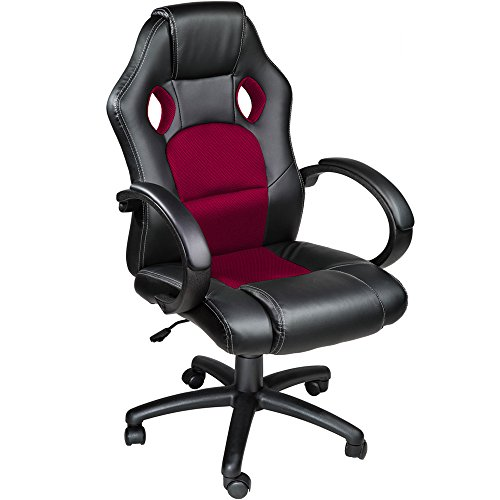 TecTake Silla de escritorio de oficina, Racing - disponible en diferentes colores (Burdeos)