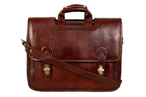 SCHARF Boston Sebastine Manuscript File Genuine Leather Crossbody Portfolio Laptop Carrycase Bag