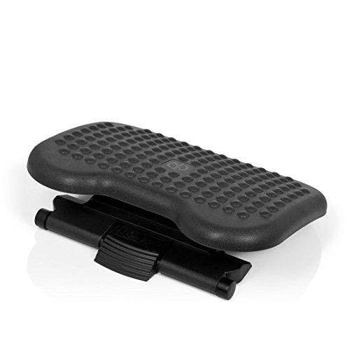 hjh OFFICE 721010 Fußstütze Piedino Dot, neigbar höhenverstellbar, schwarz
