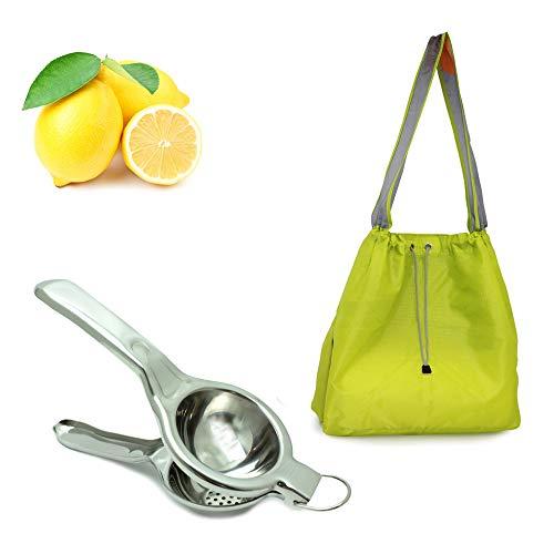 EcoJeannie (LS0002) Profi-Packung, super starkes Ripstop-Nylon, faltbar, wiederverwendbar, Einkaufstasche mit integrierter Tasche grün