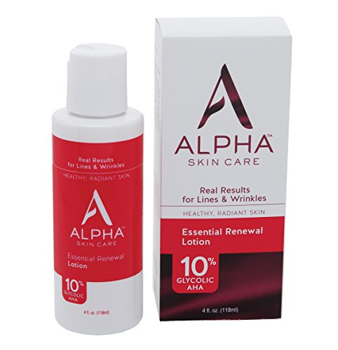 Alpha Skin Care Essential Renewal Lotion 10% Glycolic AHA, 4 Ounce