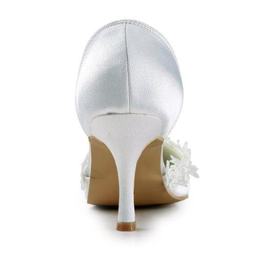 Jia Jia Wedding A318 chaussures de mariée mariage Escarpins pour femme Blanc