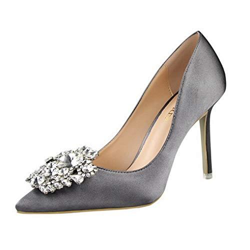 Kostüm Göttin Juwel - Damen Stiletto Pumps Strass High Heels Pumps Party Hochzeit Büro Schuhe
