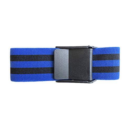 TUEU Occlusion Training Bands Blutflussbegrenzung Manschette Starke elastische Gurte mit Schnellverschluss für Blutfluss Einschränkung Arme und Beine, blau