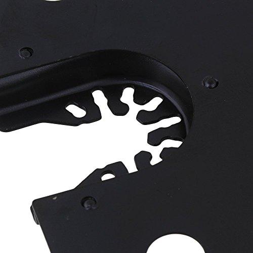 cnbtr 100mm schwarz kohlenstoffreicher Stahl Quick Release Pendelndes Multitool Halbkreis Sägeblätter mit Senkkopf Set von 5