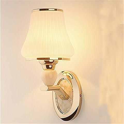 Larsure Vintage Industrial Style Wandleuchte Wandleuchte Lampe Gold LED Schlafzimmer Nachttisch kristall Wandleuchte Wohnzimmer Wandleuchte, 150mm*330mm