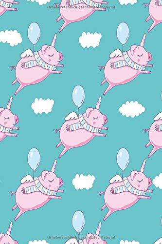 Notizbuch Piggycorn: Fliegende...