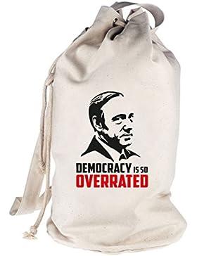 HOC - Democracy Is So Overrated, bedruckter Seesack Umhängetasche Schultertasche Beutel Bag