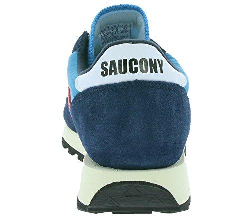 E Navy Basket Vintage Di Maglia Blu Blu Jazz Saucony Tessuto Rosso qO85C8