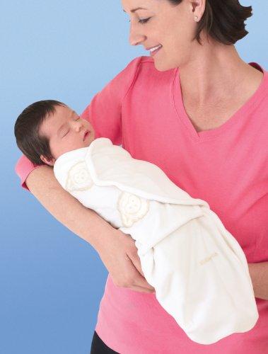 SwaddleMe 10500 - B2Y Neugeborenes/Baumwolle/gelb - Schreibabys Ganzkörper Pucksack Small