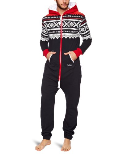 OnePiece - Jumpsuit Marius, Tuta intera, Colore Multicolore (Red/Navy/White), Taglia Medium