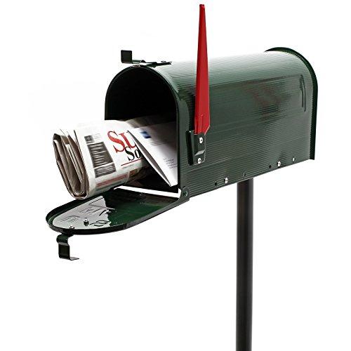 Cassetta postale americana us mailbox con palo supporto- verde