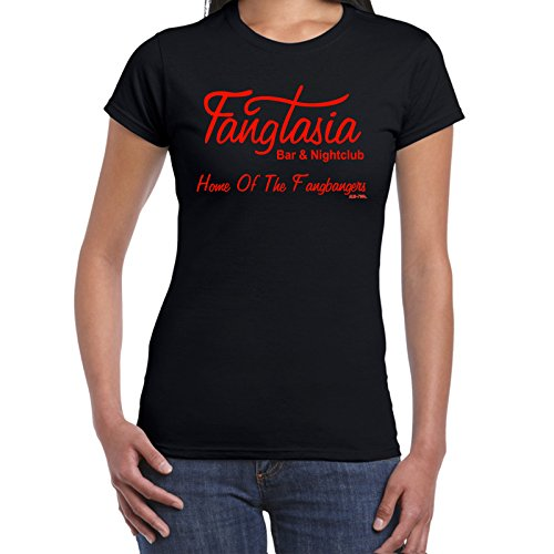 Fangtasia-True Blood Style tshirt-Damen Lustige Sprüche coole T Shirts-BLK-RED-M (Red Jugend-true Tee)