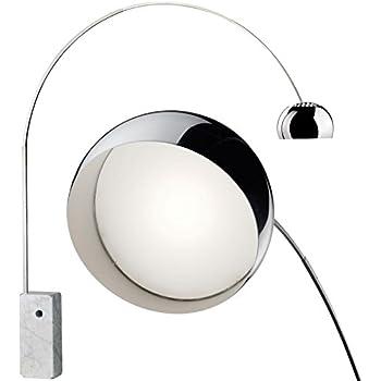 lampe arco pied en marbre blanc design neuve livraison gratuite luminaires et. Black Bedroom Furniture Sets. Home Design Ideas