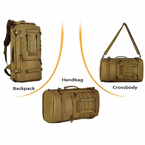 SUNVP Tactical Hydration Rucksack mit abnehmbarem Wasserbeutel 2.5L Wasser Rucksack Blasentasche f¨¹r Camping Wandern Radfahren und Laufen Braun Black