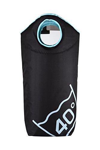 Wäschesack Wäschekorb Wäschetasche faltbar und tragbar in verschiedenen Farben 100 L Fassungsvermögen (Schwarz (40 Grad))