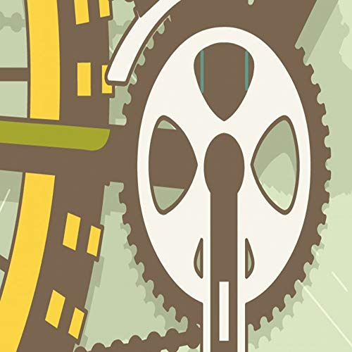 Apoart 3D Wandtapete Benutzerdefinierte Wandbild Wohnzimmer Benutzerdefinierte Tapete Retro Bike Mountainbike Teile Werkzeug Hintergrund Wandbild Schlafzimmer Mall Mural140Cmx100Cm