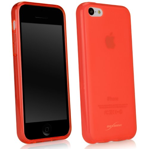 Frosted Coral (BoxWave Arctic Frost Apple iPhone 5 C Crystal Slip - Colorful Slim Fit Frosted TPU Gel Haut Schutzhülle für Schutz, der dauerhaft Anti-Rutsch - Apple iPhone 5 C Hüllen und Abdeckungen (Coral))