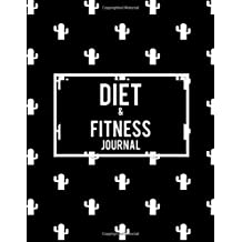 "Diet & Fitness Journal: Black Color, 2019 Weekly Meal and Workout Planner and Grocery List 8.5"" X 11"" Weekly Meal Plans for Weight Loss & Diet Plan"
