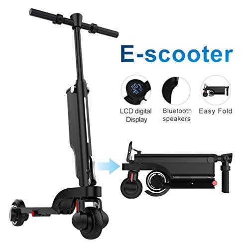 L&U Erwachsener Faltbarer elektrischer Roller, Mini elektrischer Lithiumbatterie-Roller, abnehmbare Batterie, 5,5-Zoll-Aluminiumlegierung-elektrischer Tretroller, 24v 200W