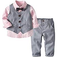 7bb7f8446207b K-youth Conjunto de Cuatro Piezas para Bebé Niño 1-4 Años Ropa Niño