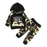 Eternali Winter Babybekleidung Neugeborenen Jungen Camouflage Trainingsanzug Sport Bekleidung Papas Junge Drucken Hoodie
